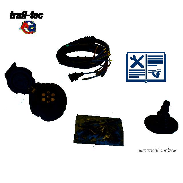 Typová elektropřípojka Citroen Jumper skříň 1994-2002, 7pin, AC