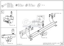 Tažné zařízení Mercedes Benz Sprinter II valník 5t (4,6t) (MWB+LWB) 2006-, odnímatelný bajonet, Galia