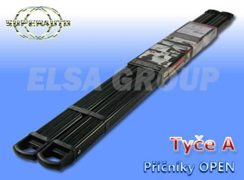 Příčníky střešního nosiče OPEN A černé 1400+1400cm